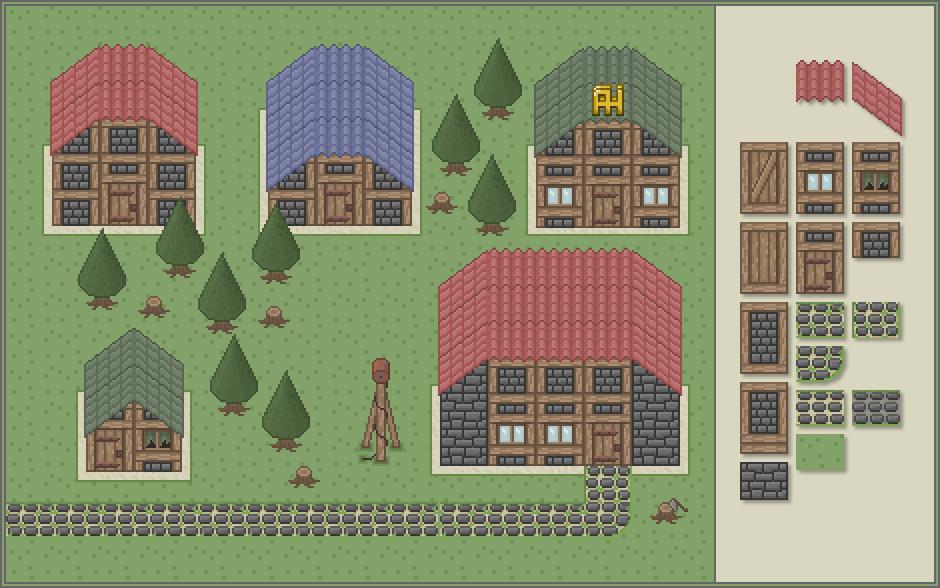 pixel village